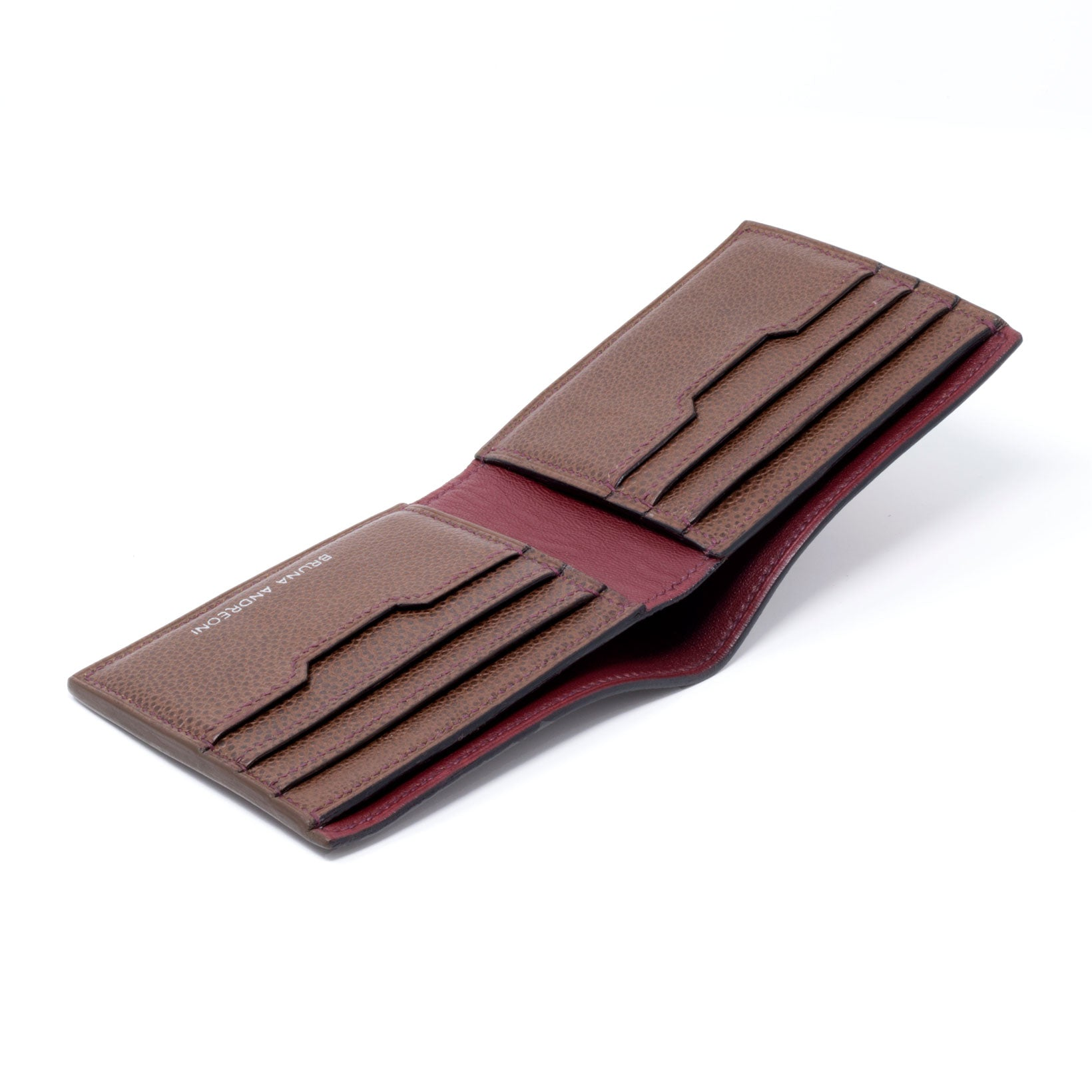 Chestnut Grain Taurillon Havemayer Bi-Fold Wallet handmade by Bruna Andreoni