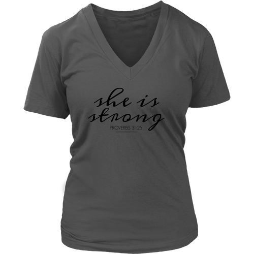 She is Strong V-Neck