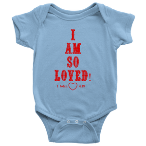 I Am So Loved (Baby Onesie) Red