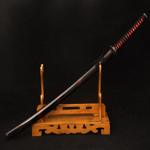 Hand Forged Damascus Folded Steel Red Dragon Katana