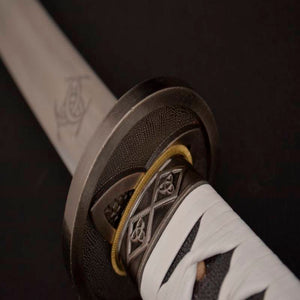 Handmade Japanese Samurai Sword Folded Steel Walking Dead Katana