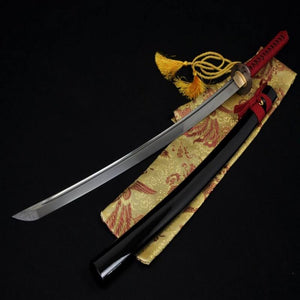 Handmade Japanese Samurai Sword Katana Folded Steel Red Dragonfly