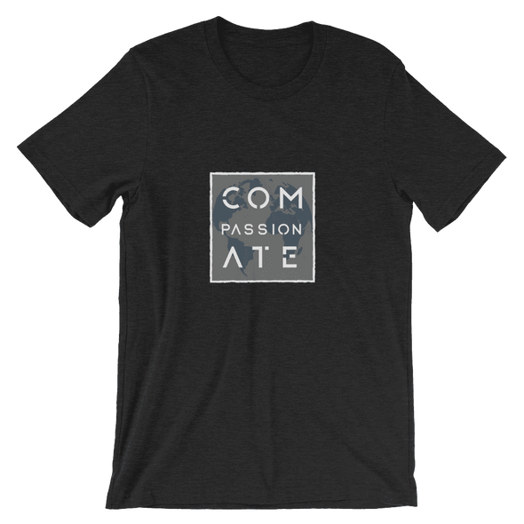 Compassionate | Vegan T Shirt Black Heather / S Earth Supply