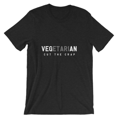 Cut the Crap | Vegan T Shirt Black Heather / S Earth Supply