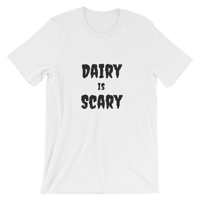 Dairy is Scary | Vegan T Shirt White / S Earth Supply