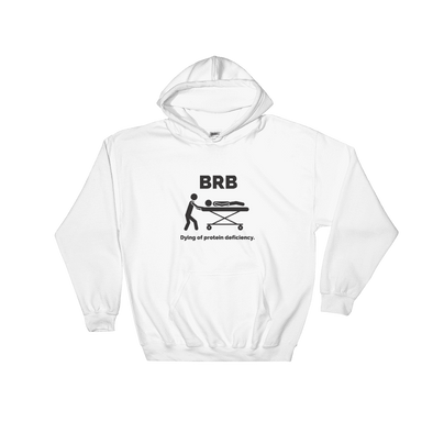 Dying of Protein Deficiency | Vegan Hoodie White / S Earth Supply