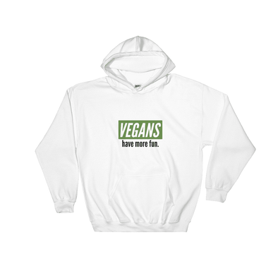 Vegans Have More Fun | Vegan Hoodie White / S Earth Supply