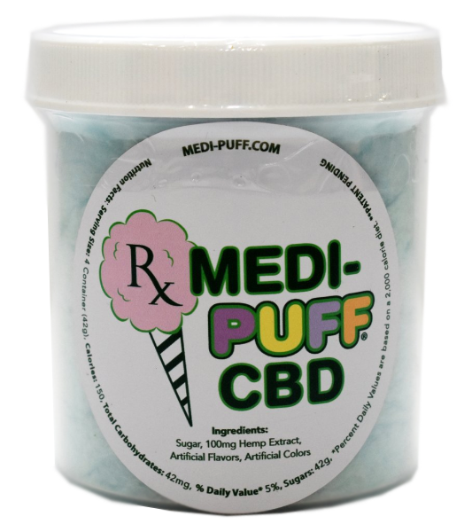 Blue Raspberry CBD Infused Cotton Candy - Medi Puff