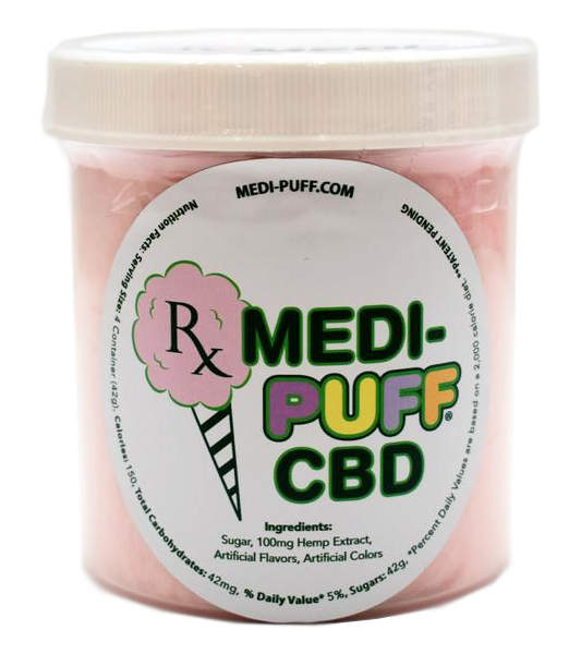 Bubble Gum CBD Infused Cotton Candy - Medi Puff