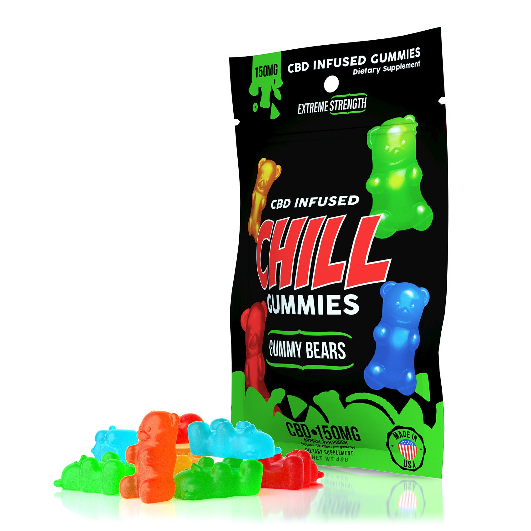CHILL GUMMIES - CBD INFUSED GUMMY BEARS - EC Direct CBD