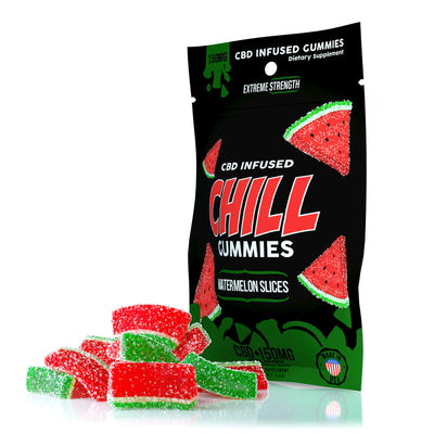 CHILL GUMMIES - CBD INFUSED WATERMELON SLICES - EC Direct CBD