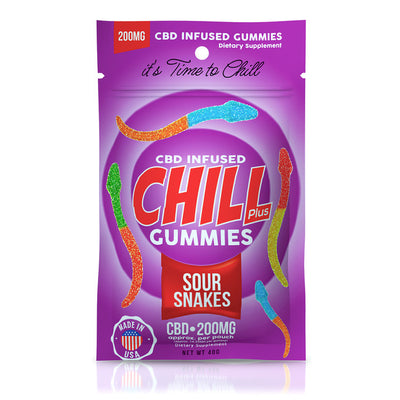 Sour Snakes - Chill Plus CBD Infused Gummies - EC Direct CBD