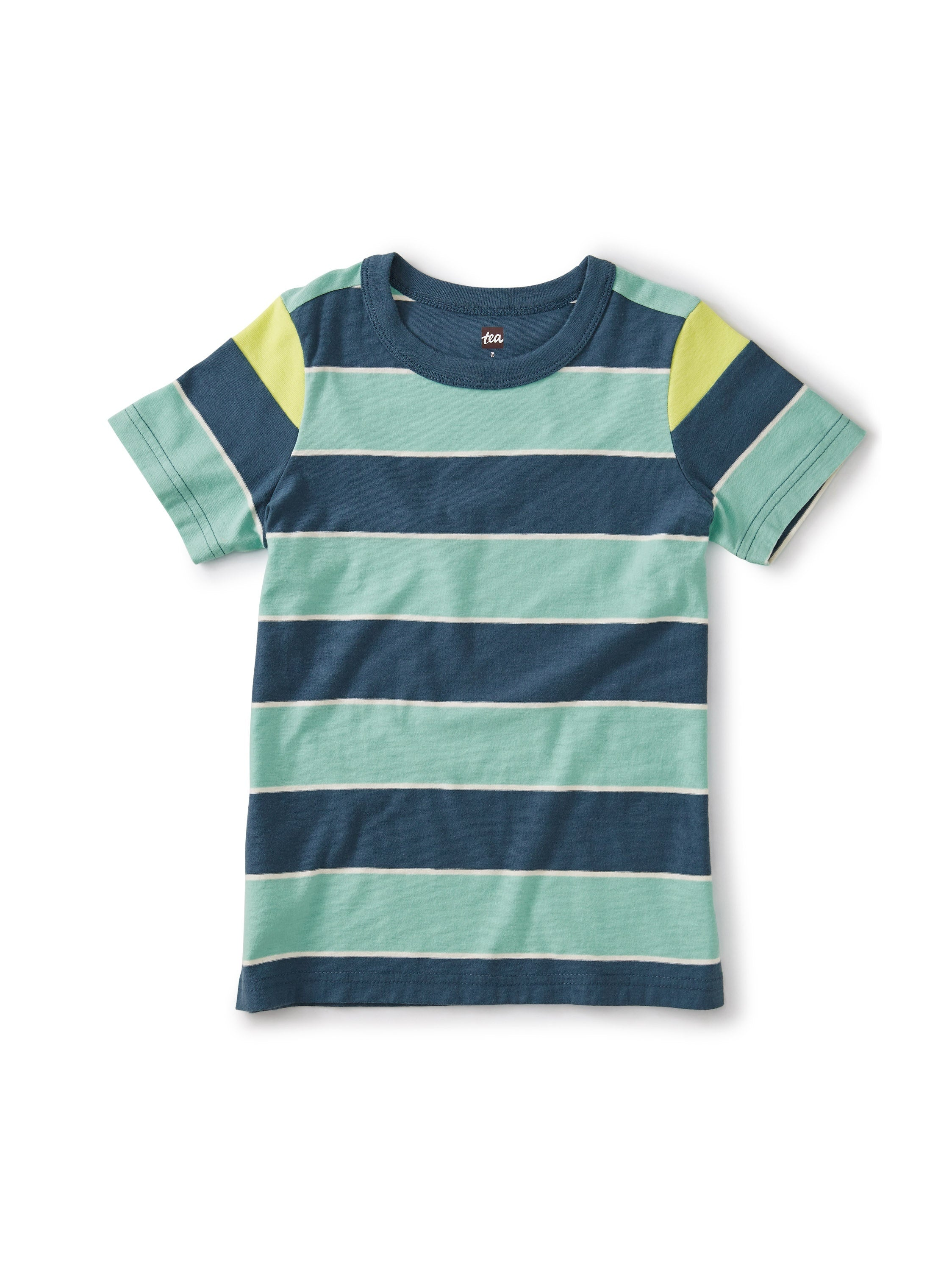 Boys Striped Shoulder Tee
