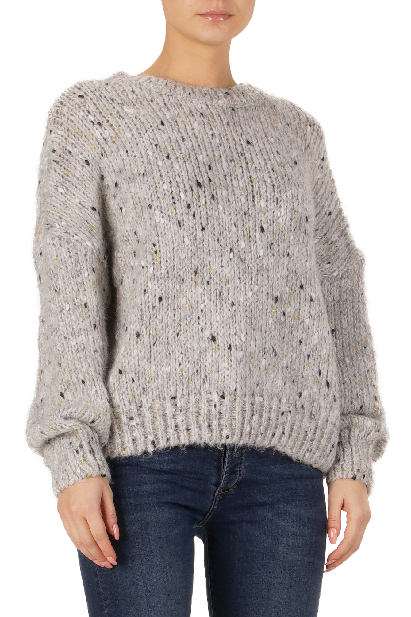 GREY SPECKLE SWEATER