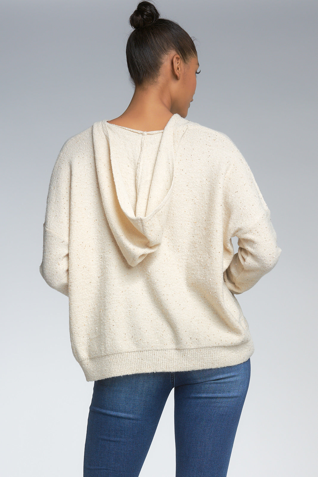 CREAM HOODED SWEATER