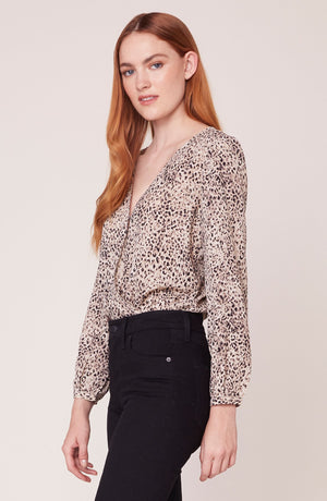 ANIMAL MAGNETISM PRINTED BODYSUIT TOP