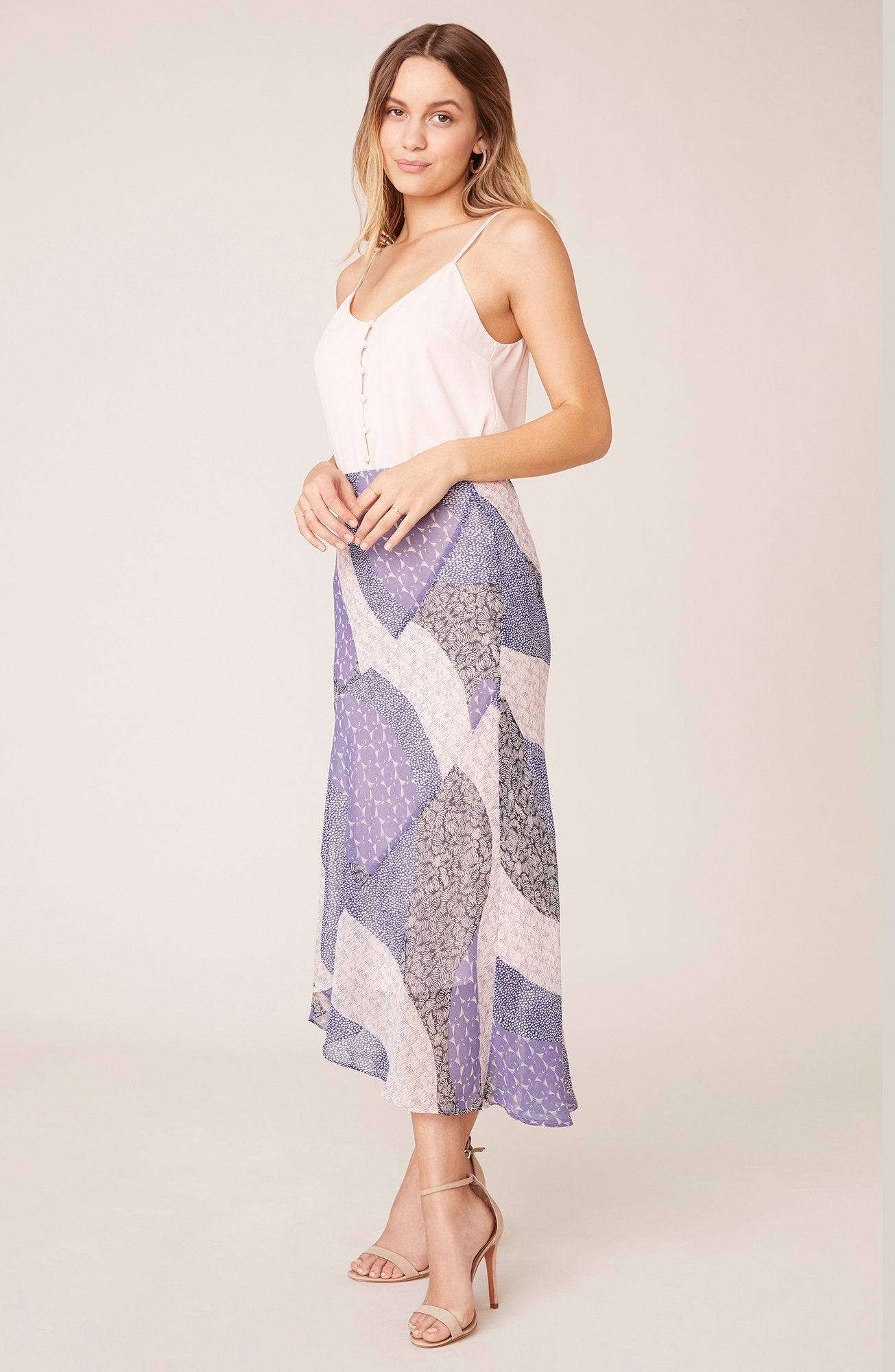 PATCH ME IN MIDI SKIRT