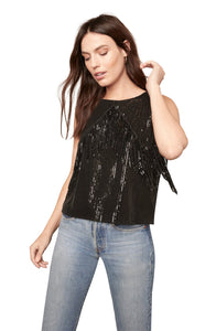 BLACK SEQUIN TANK