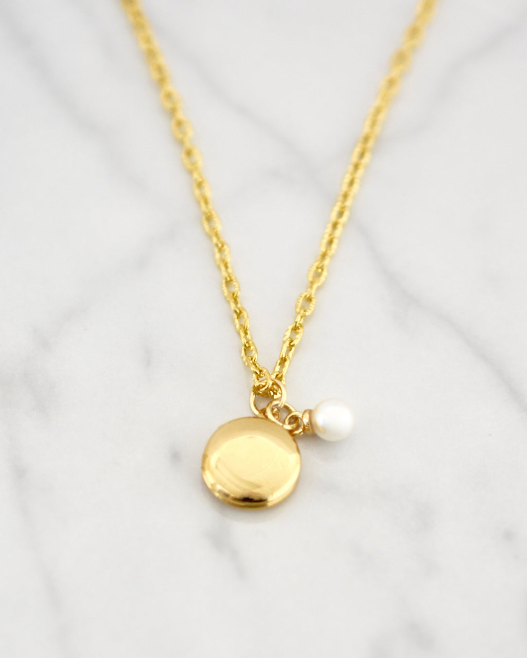 DAINTY LOCKET NECKLACE