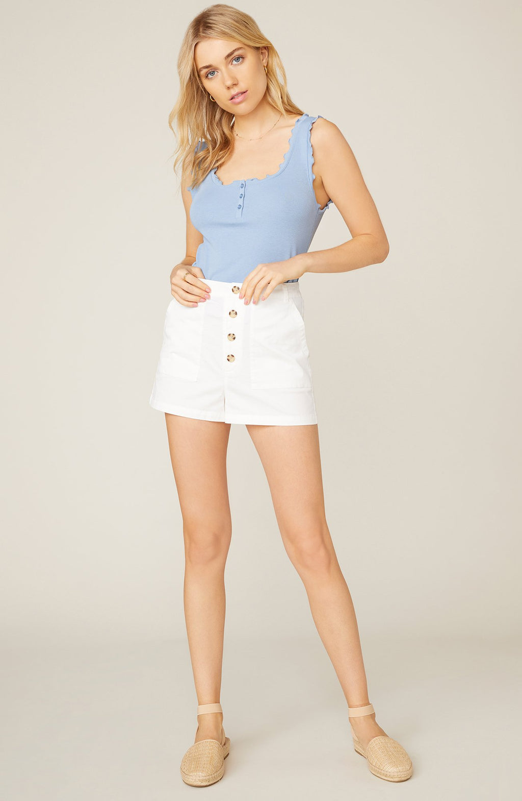 WHITE COTTON SHORT