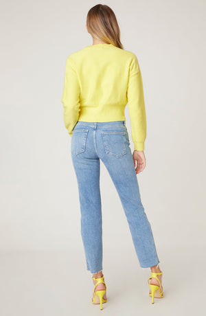 WAIST THE DAY CABLE SWEATER