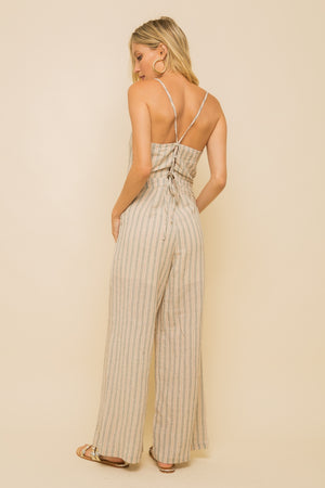 LACE UP JUMPSUIT