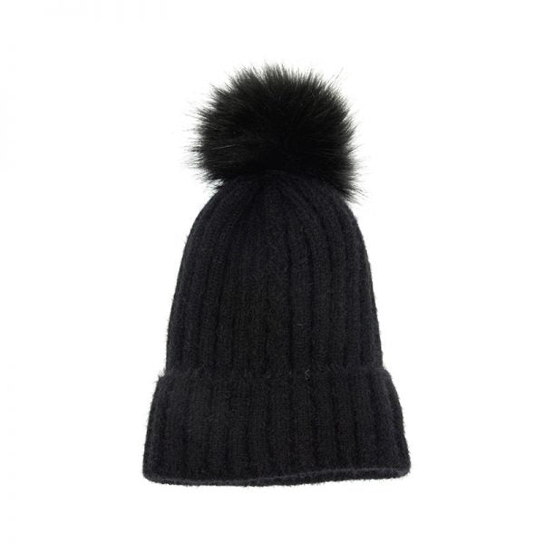 FAUX FUR POM HAT (click for more colors)
