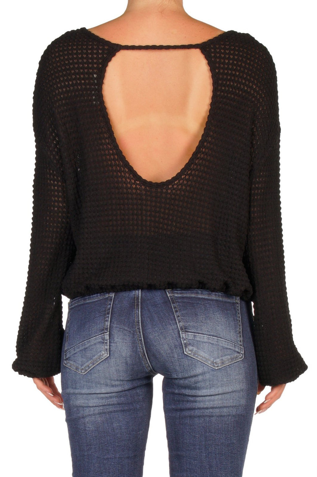 BLACK KNIT TOP