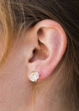 JEMSTONE PRONG EARRINGS (click for more colors)