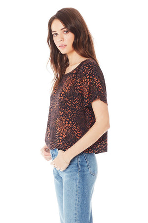COPPER ANIMAL PRINT TOP