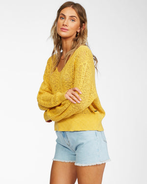 FEEL THE BREEZE SWEATER-SUNFLOWER