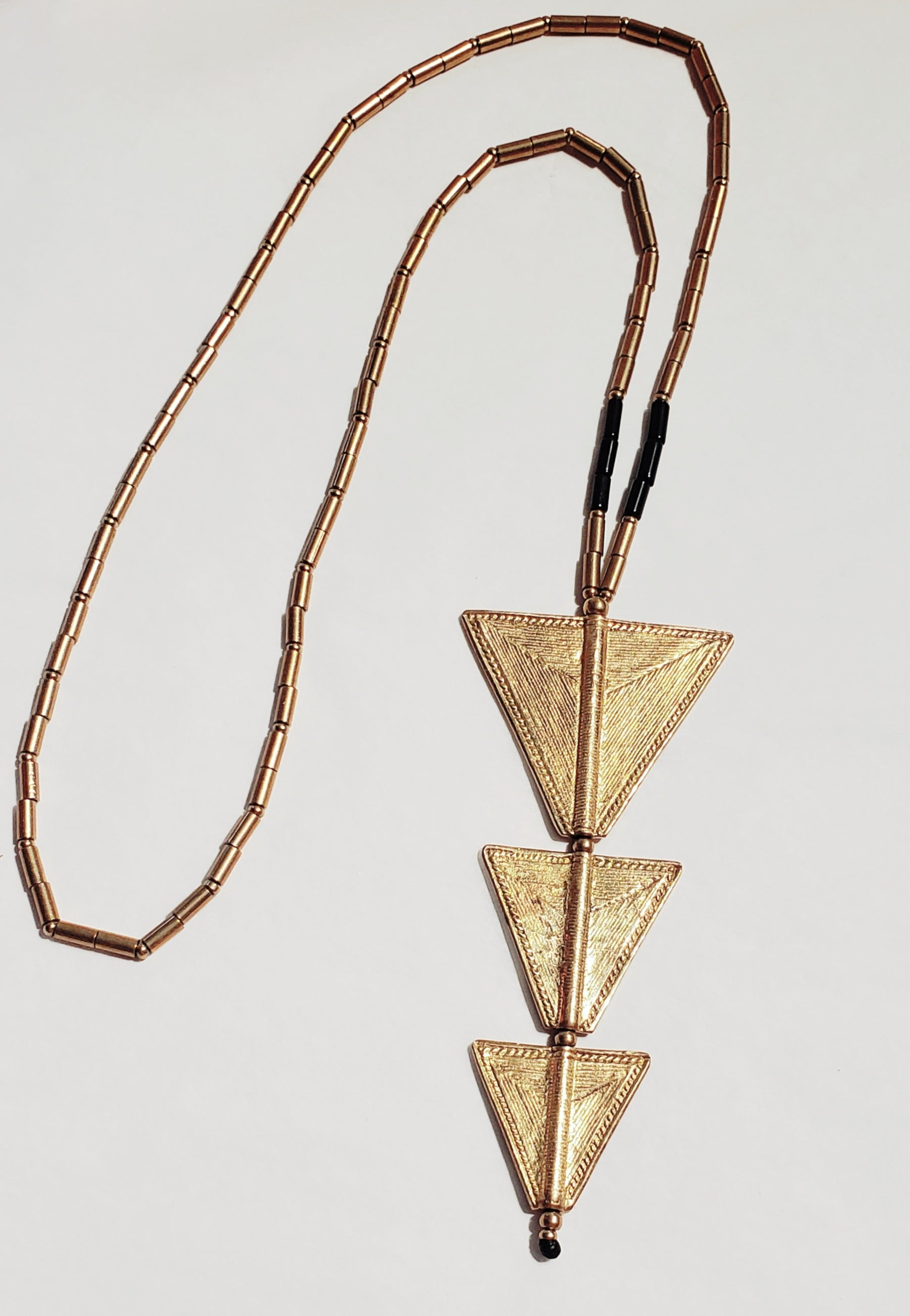 LONG TRIANGLE DROP NECKLACE