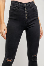 SUPER SKINNY DENIM-BLACK