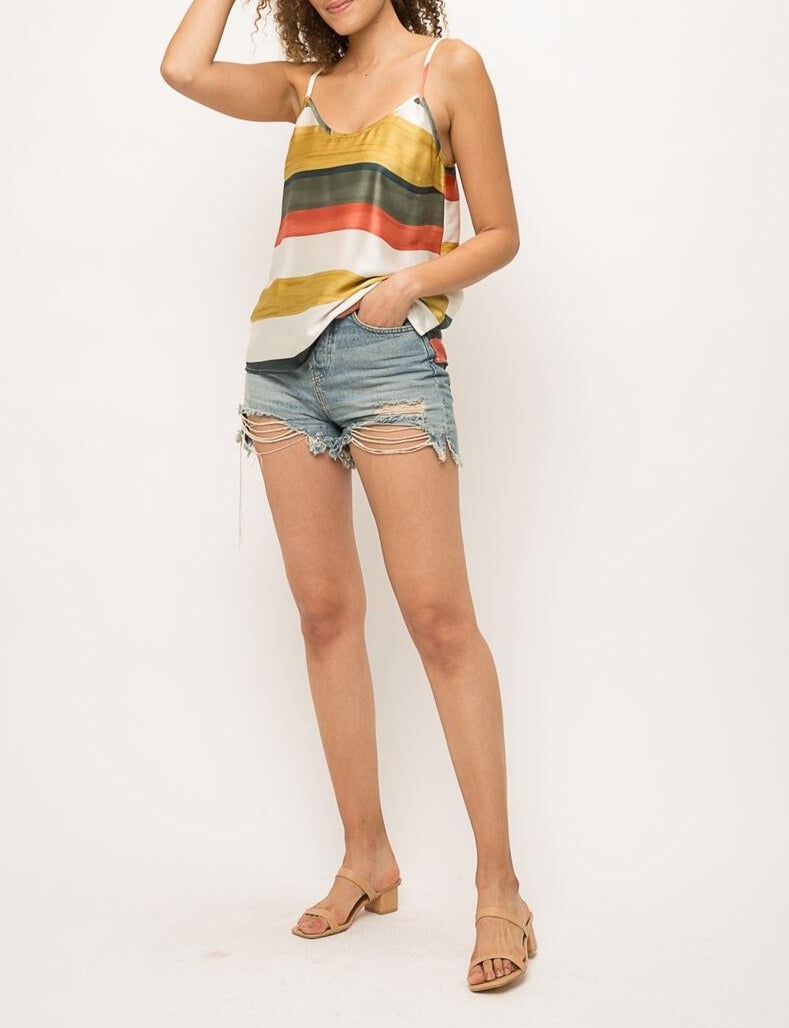 MULTI STRIPE TANK