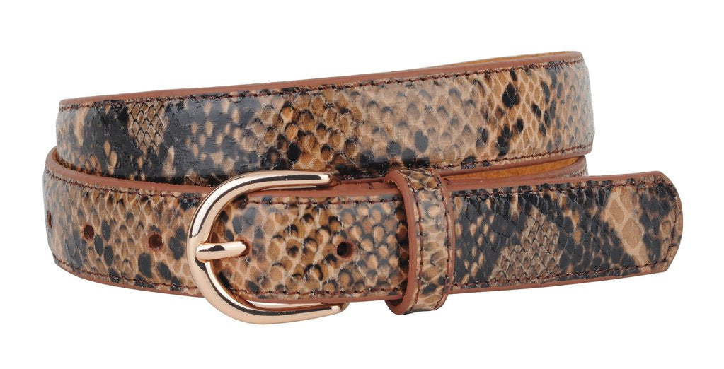 GOLD/BROWN SNAKESKIN BELT