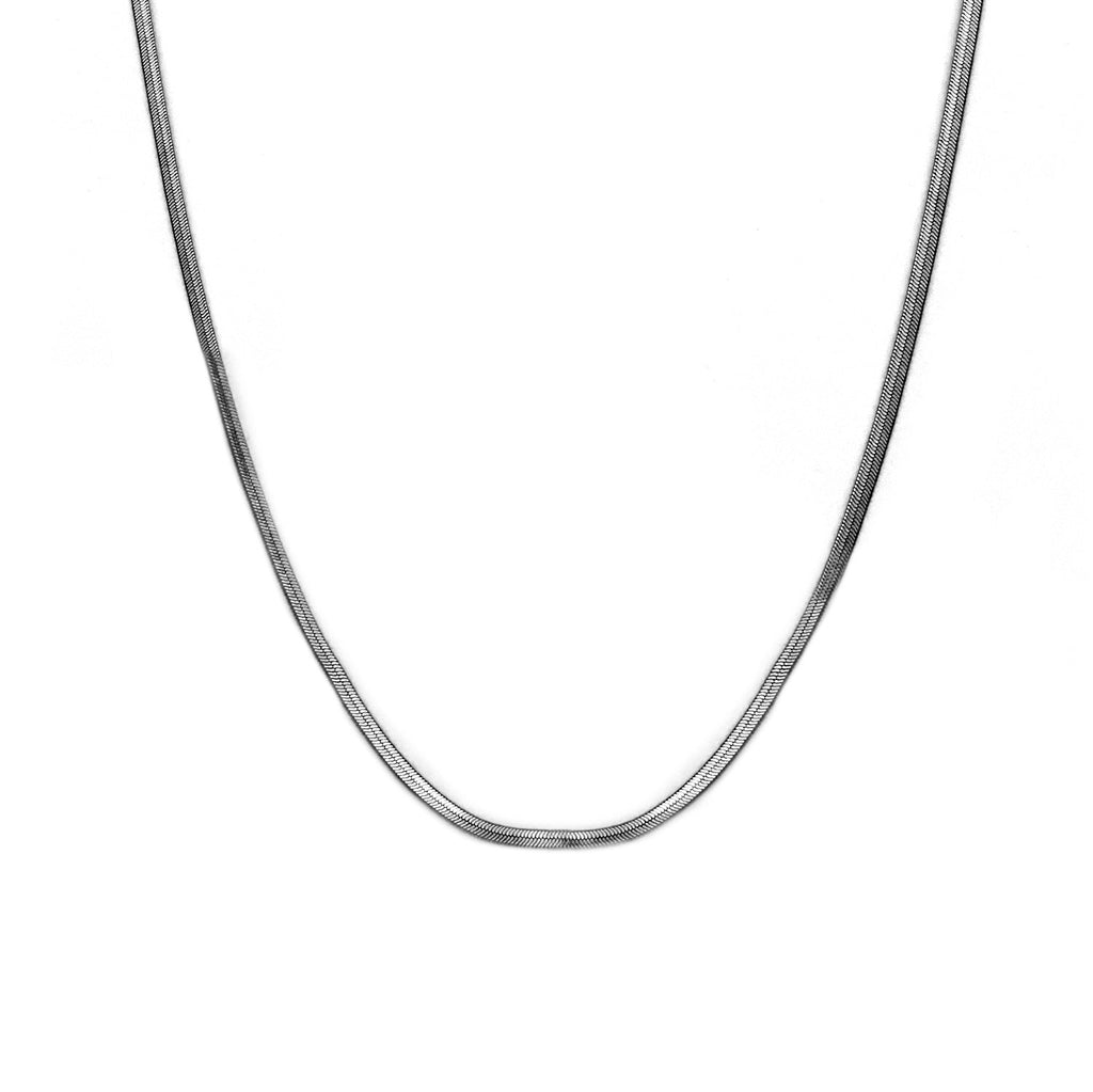 HEMATITE HERRINGBONE NECKLACE