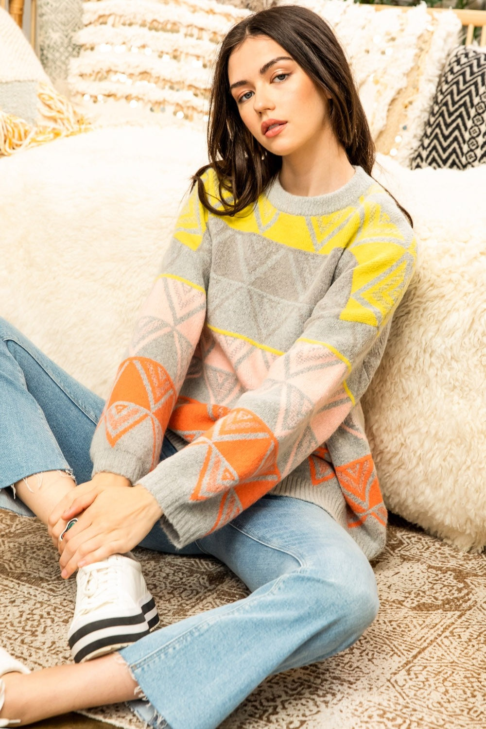 NEON PRINTED SWEATER