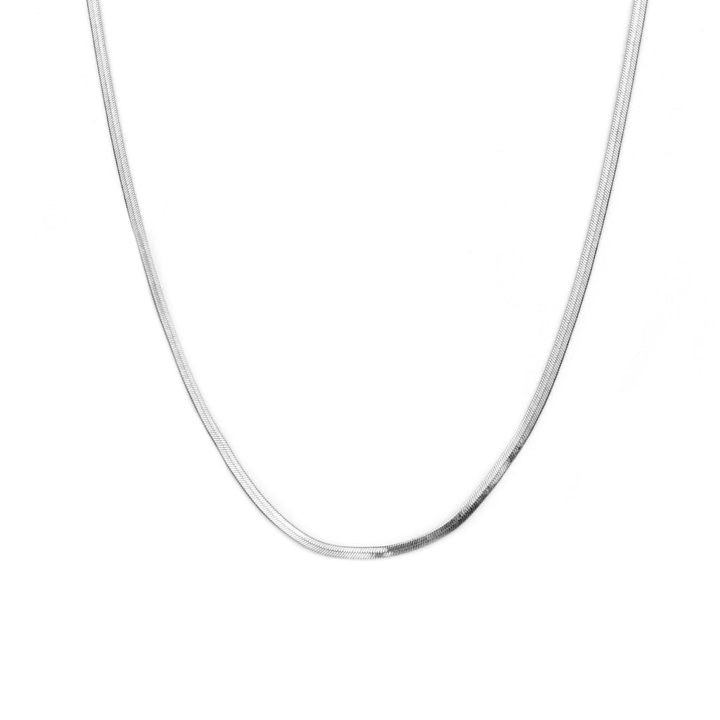 SILVER HERRINGBONE NECKLACE