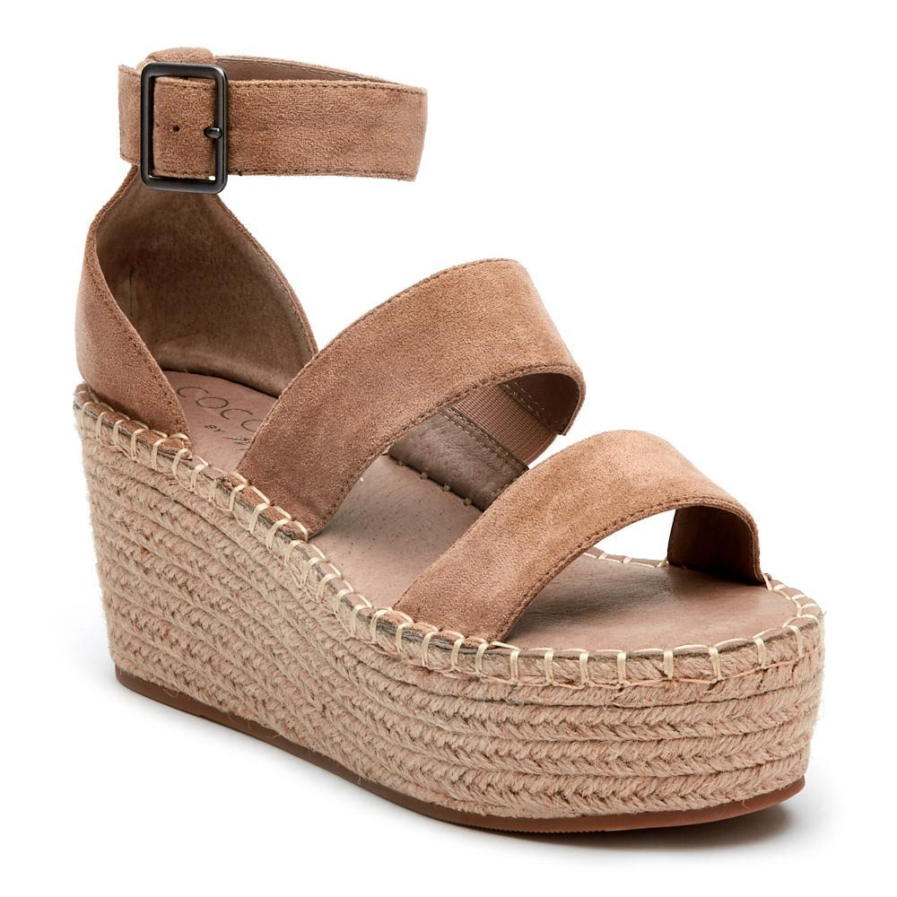 NATURAL WEDGE SANDALS