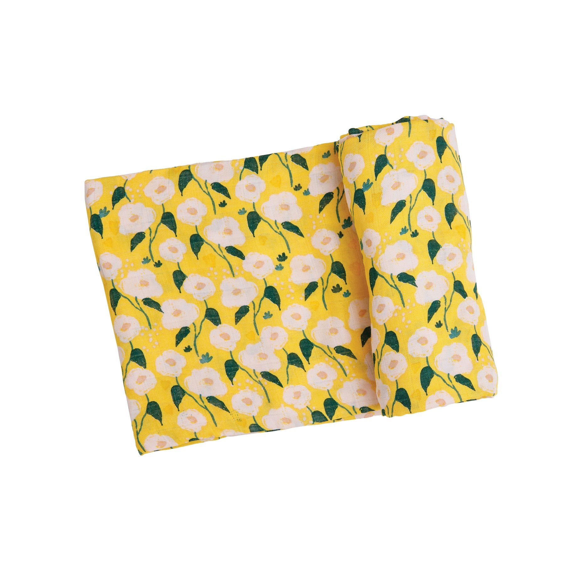 YELLOW FLORAL MUSLIN SWADDLE