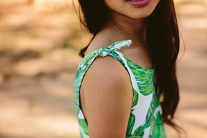 Tie Dress – Leaf Print