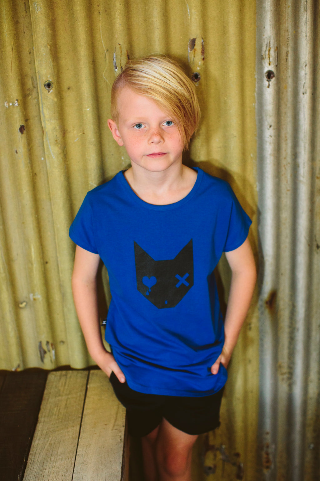 Tall Tee – Cobalt Monster Print
