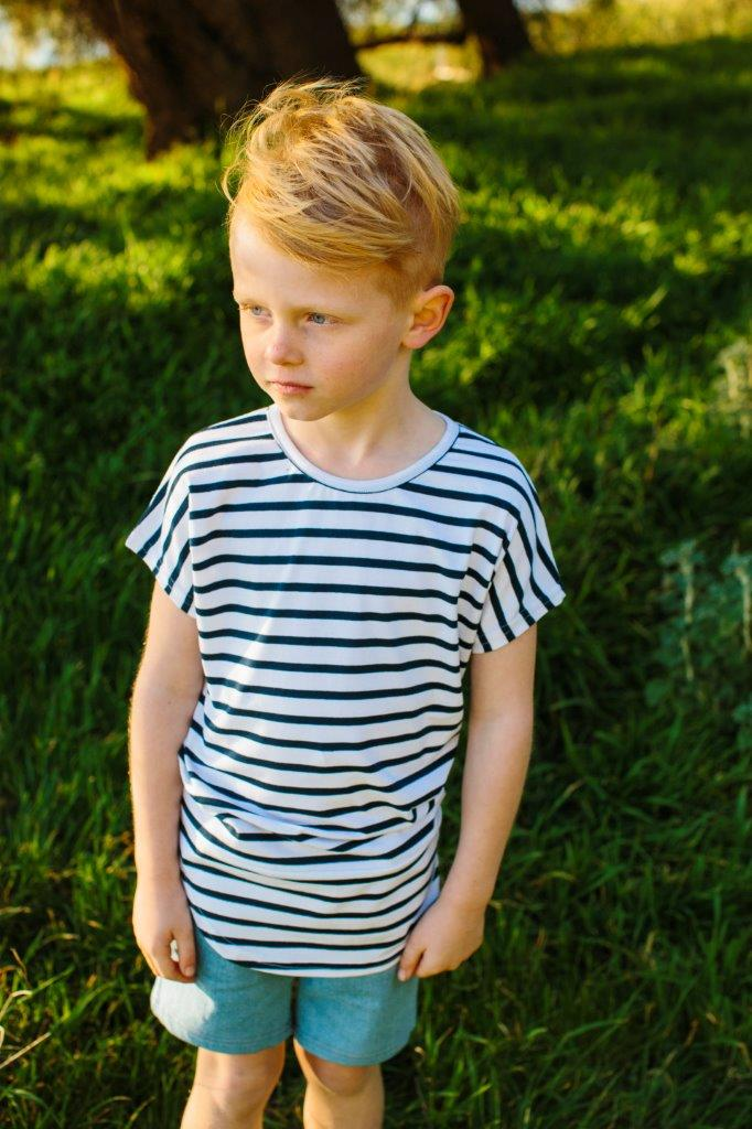 Tall Tee – Navy Stripe