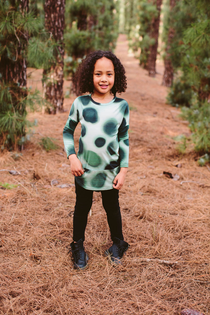 Tall Tee - Long Sleeve Watercolour Spots