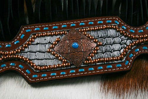 Alligator Print Fringe Tack Set