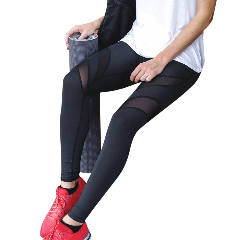[YB ESSENTIAL] - New Yoga Pants With Mesh In Front And Back