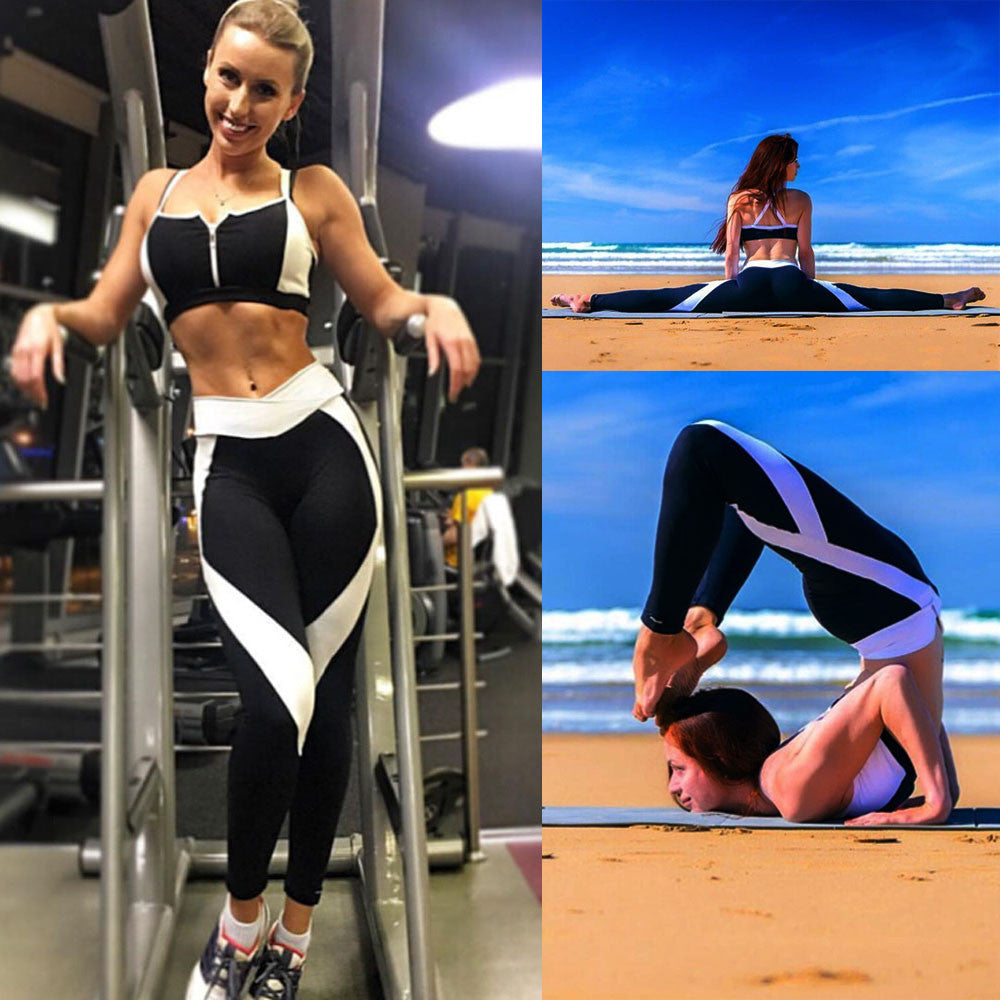 [YB ESSENTIAL] - NEW 2018 Black and White Quick Dry Yoga Pants