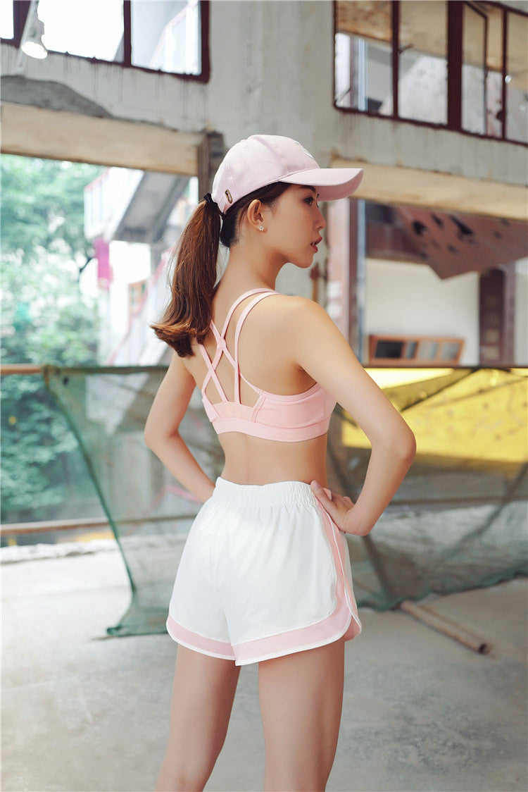 [YB SHORTS] - Comfortable Double Layer Sports Shorts (Pink)