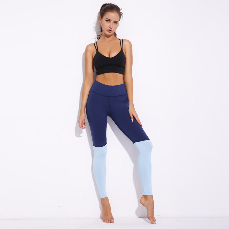 [iHeart] - Seamless  Blue Heart Compression Leggings