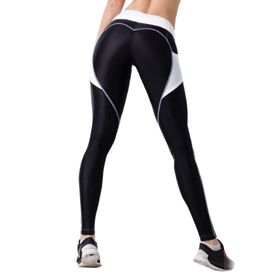 [iHeart] - BLACK & WHITE LEGGINGS (WITH SIDE POCKET)